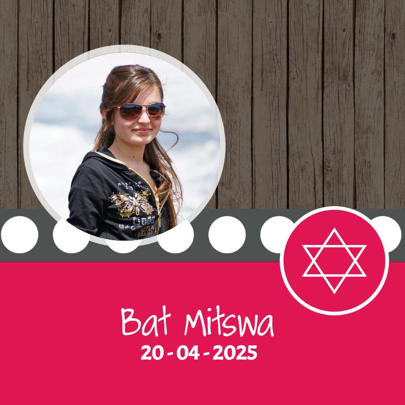 Uitnodigingen - Bat Mitswa kaart - DH