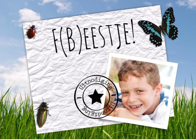 Kinderfeestjes - Beestjes uitnodiging-isf
