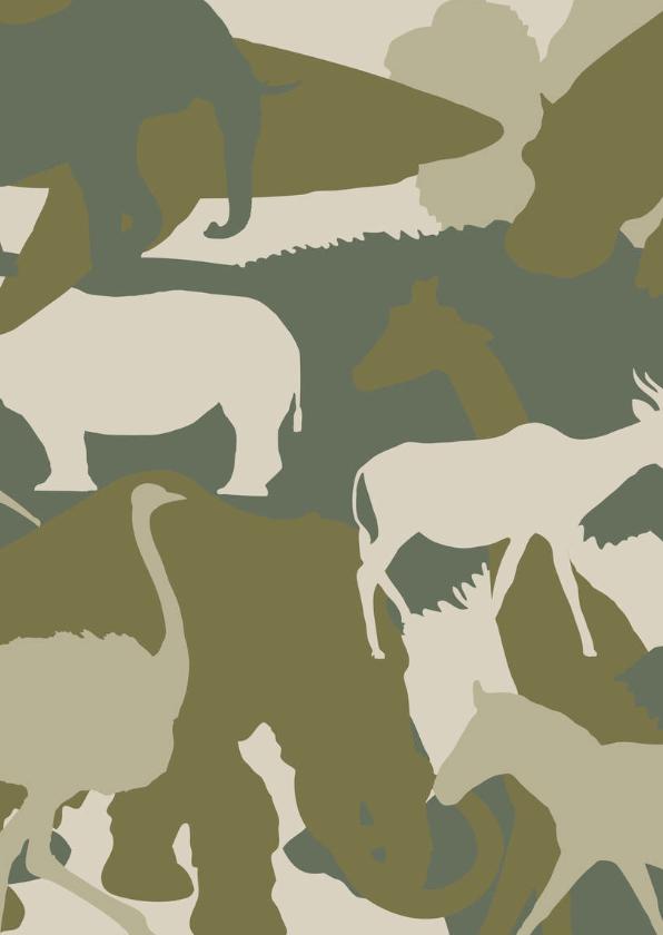 Kinderfeestjes - camouflage dieren ansichtkaart