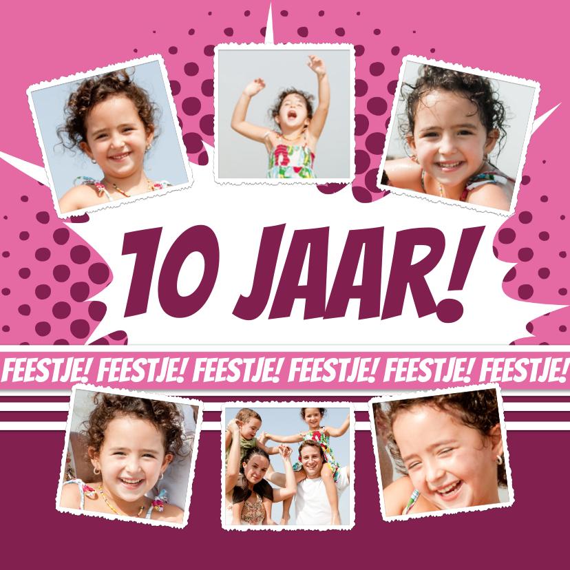 Kinderfeestjes - Collage Feestje roze - BK