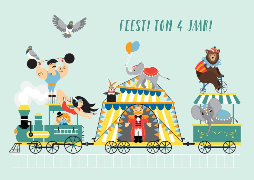 Kinderfeestjes - De circustrein vol vrolijkheid nodigt je vriendjes graag uit