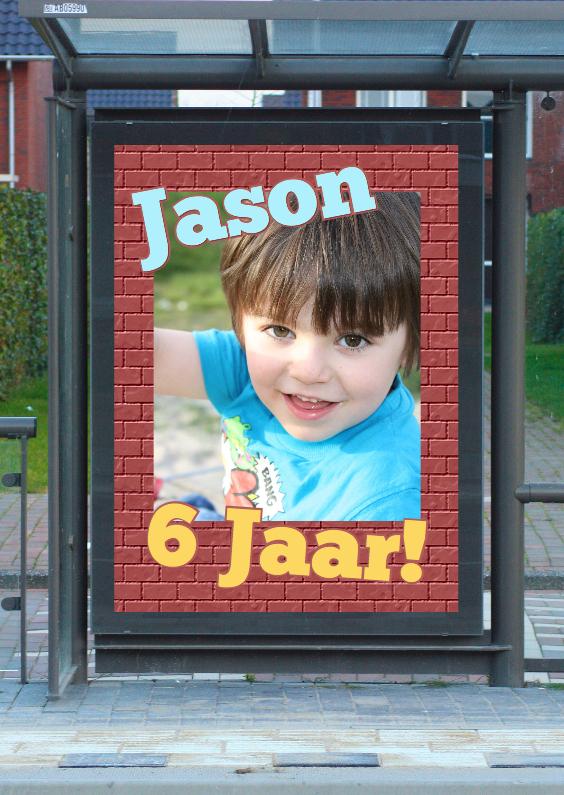 Kinderfeestjes - Feest reclameposter a