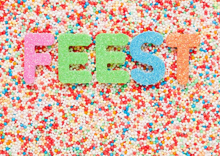 Kinderfeestjes - FEEST van gekleurde letters