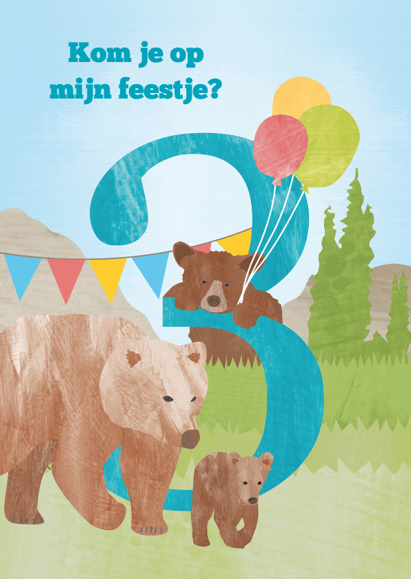 Kinderfeestjes - Feestje beren 3 jaar