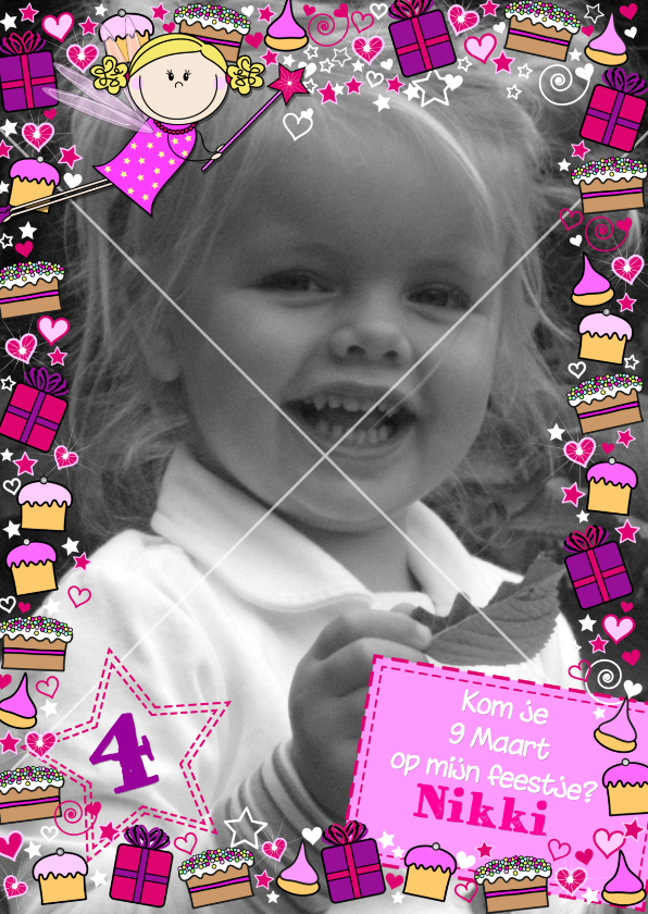 Kinderfeestjes - FEEstje  blij FEEtje met een taartjes