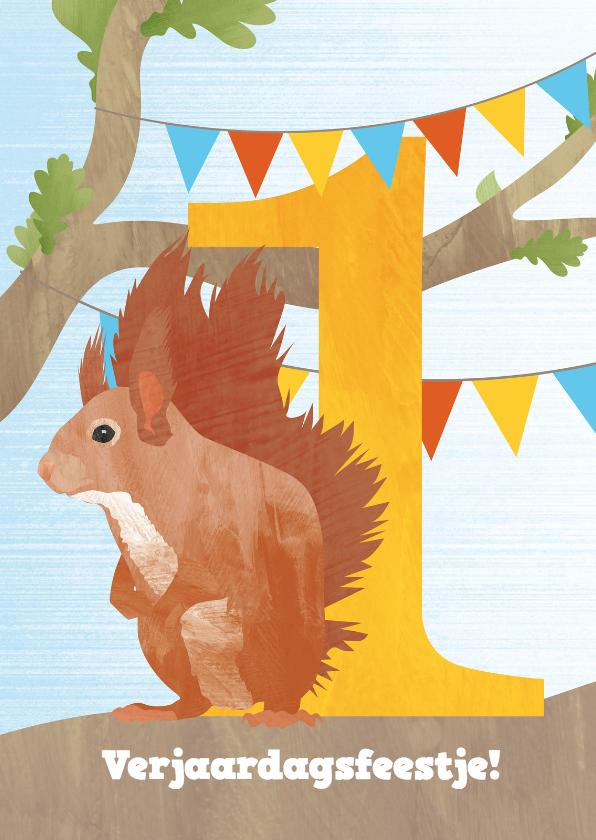 Kinderfeestjes - Feestje eekhoorn 1 jaar