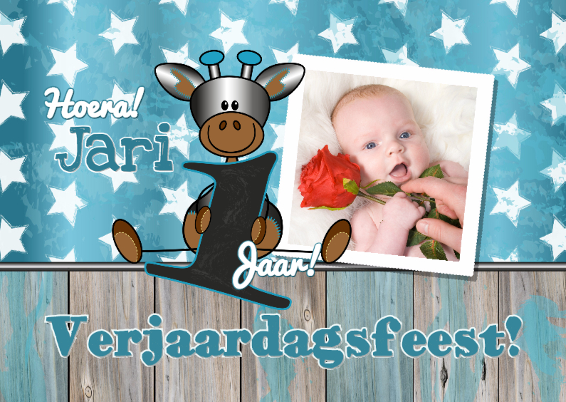 Kinderfeestjes - Feestje! Giraffe 1 jaar. Foto L