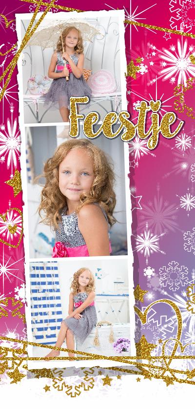 Kinderfeestjes - Feestje glitter en glamour roze foto