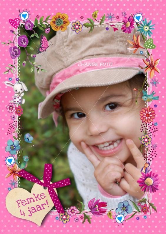 Kinderfeestjes - Feestje Meisje Bloemen Hartje