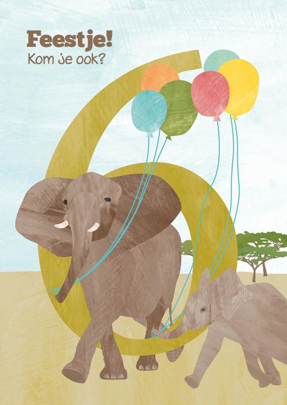 Kinderfeestjes - Feestje olifant 6 jaar