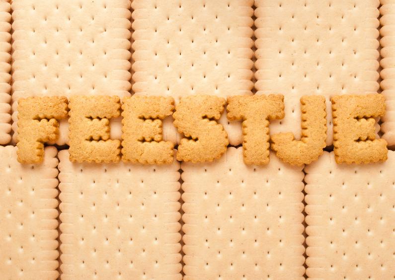 Feestje van koek letters 1