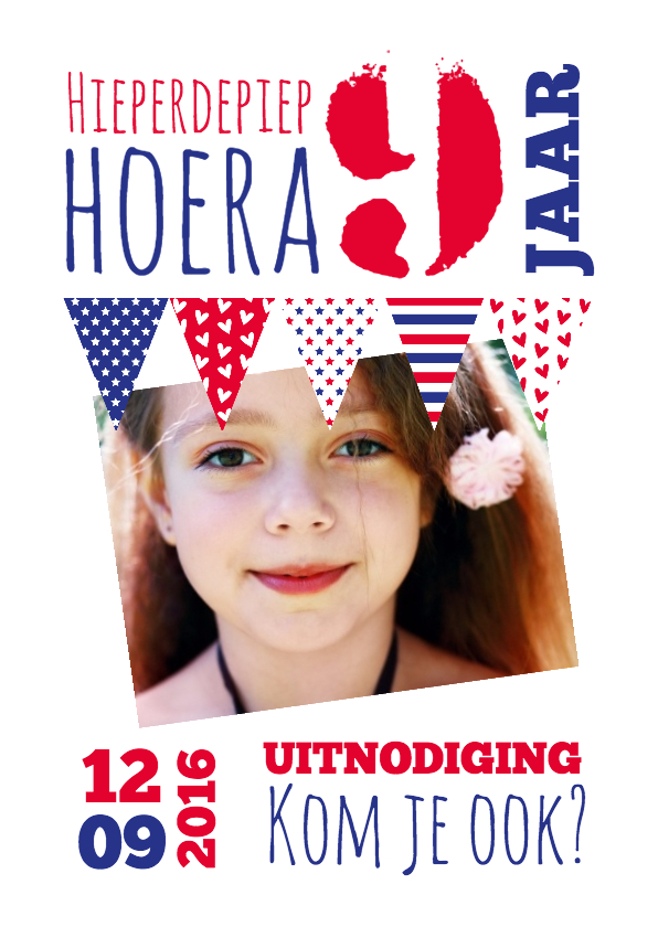 Kinderfeestjes - Foto met vlaggetjes-isf