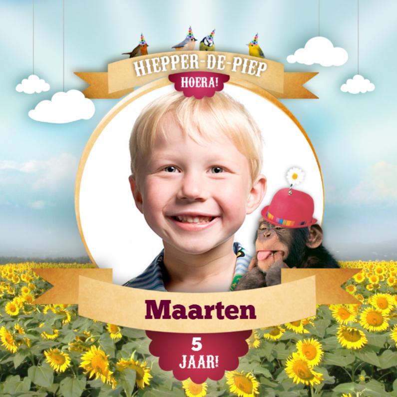 Kinderfeestjes - Fotokaart - Magical Circus - Aap