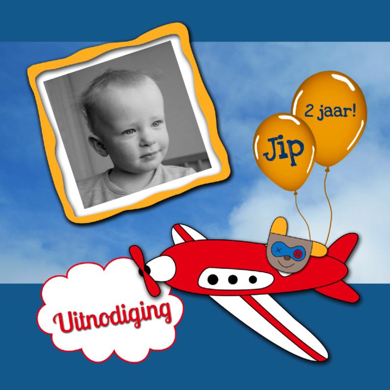 Kinderfeestjes - Fotokaart vliegtuig met Bikkel