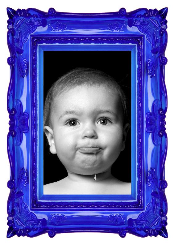 Kinderfeestjes - Fotolijst - Eigen Foto - Blauw