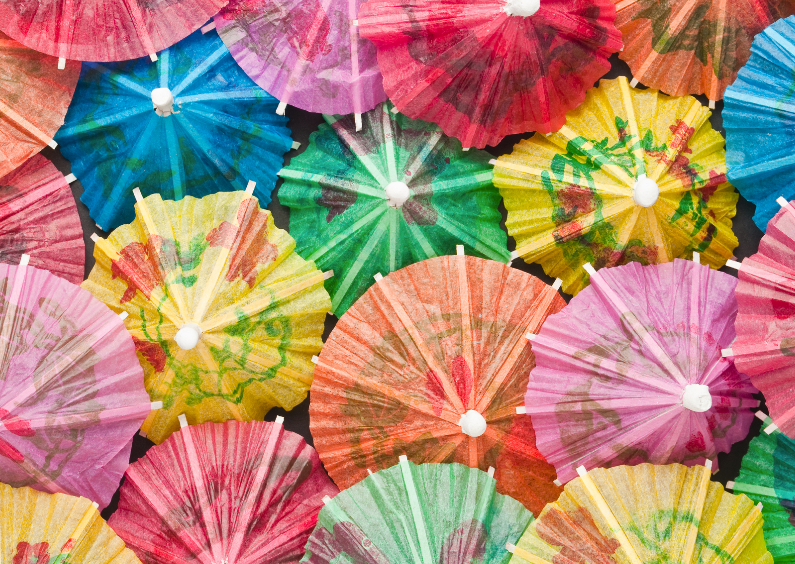 Kinderfeestjes - Gekleurde parapluutjes