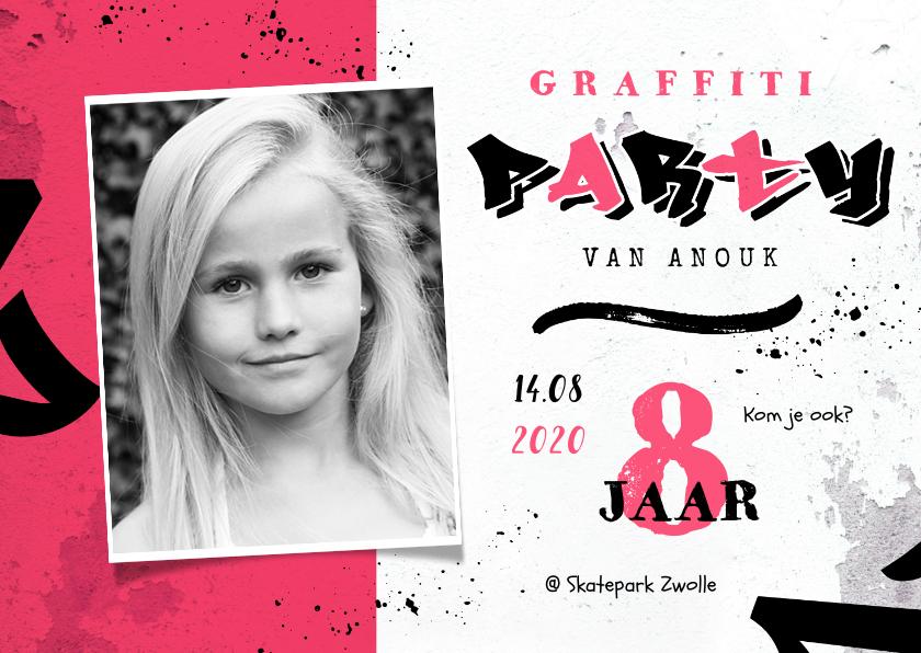 Kinderfeestjes - Graffiti kinderfeestje meisje creatief stoer foto lettering