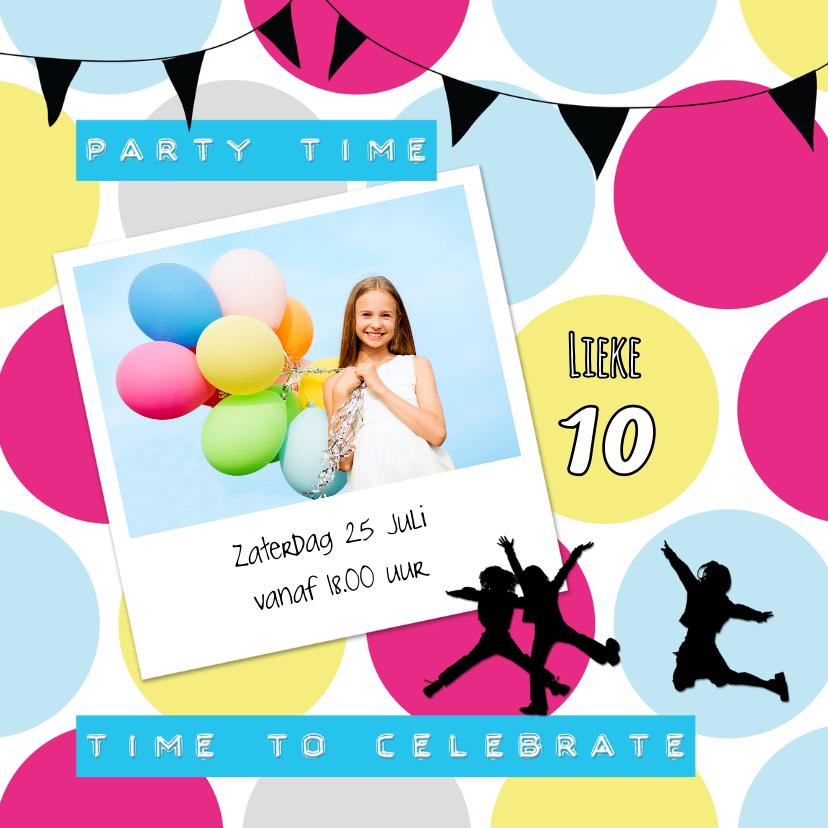 Kinderfeestjes - Hippe Uitnodiging Stip - SG