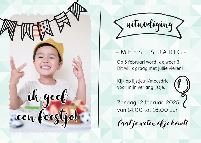 Kinderfeestjes - Ik geef een feestje - met foto