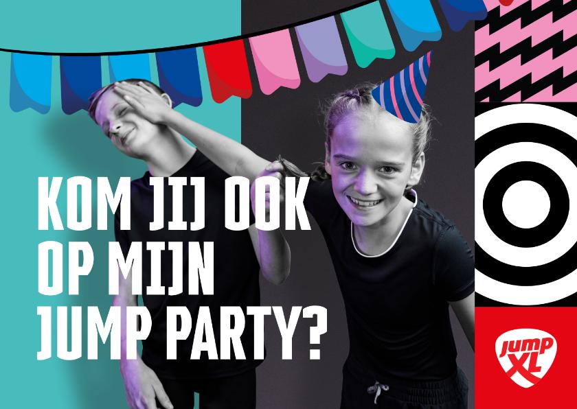 Kinderfeestjes - Jump XL kinderfeestje uitnodiging Jongen/Meisje