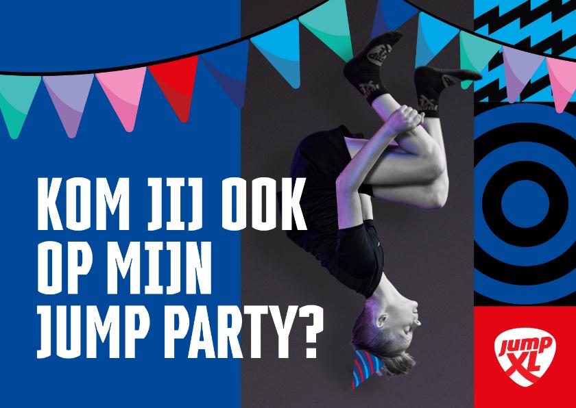 Kinderfeestjes - Jump XL kinderfeestje uitnodiging Jongen