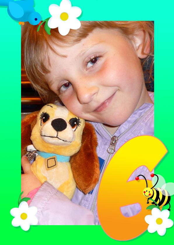 Kinderfeestjes - Kinderfeest fotokader 7 jaar