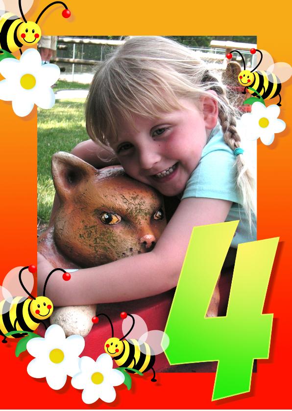 Kinderfeestjes - Kinderfeest fotokaders 4 jaar