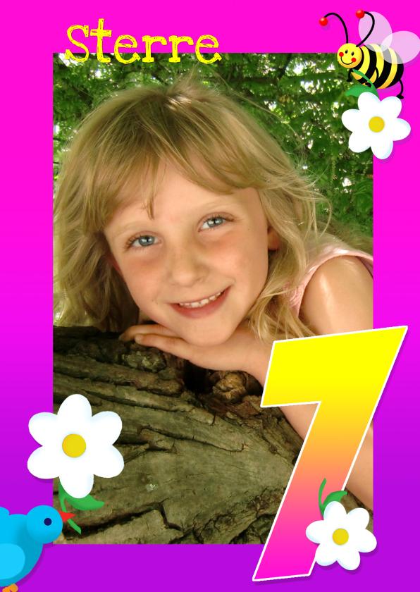 Kinderfeestjes - Kinderfeest fotokaders 7 jaar