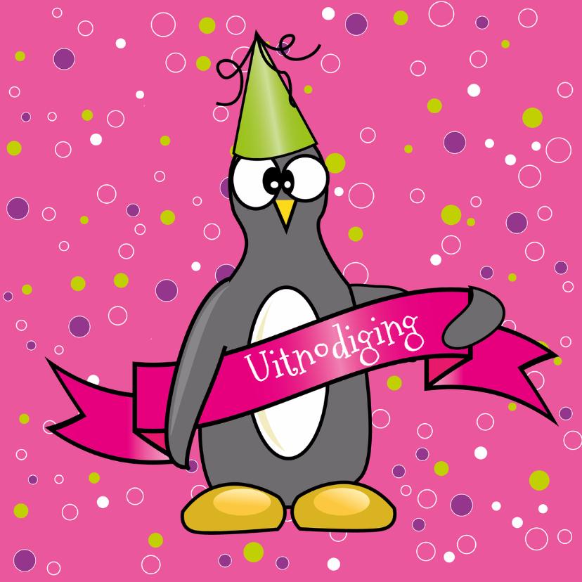 Kinderfeestjes - kinderfeest meisje pinguïn - SZ