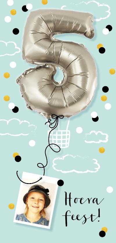 Kinderfeestjes - kinderfeestje 5 jaar folie luchtballon