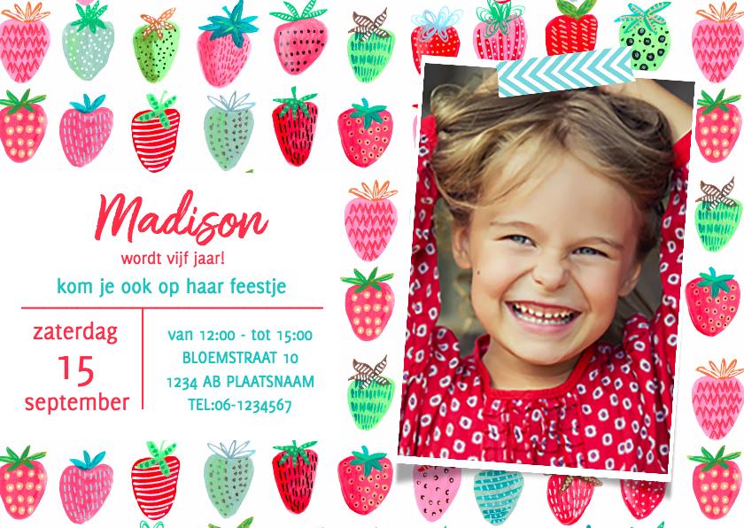 Kinderfeestjes - Kinderfeestje Aardbeien Rood fruit