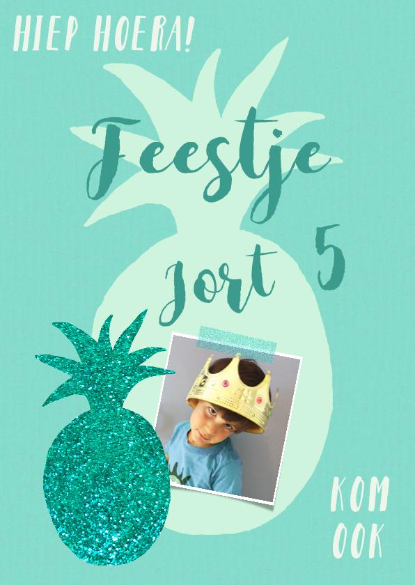Kinderfeestjes - Kinderfeestje ananas blauw groen