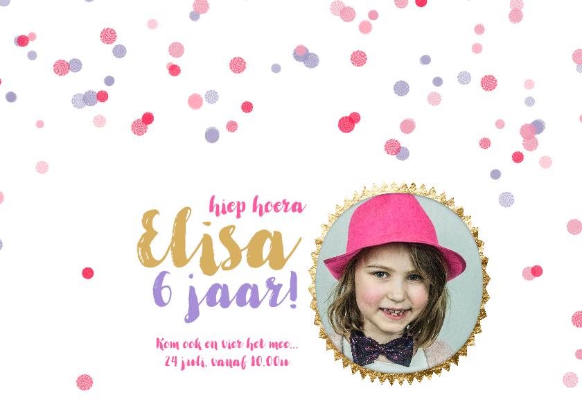 Kinderfeestjes - Kinderfeestje confetti stippen meisje