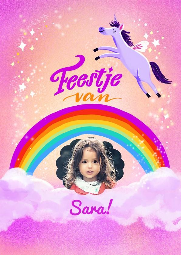 Kinderfeestjes - Kinderfeestje eenhoorn met regenboog