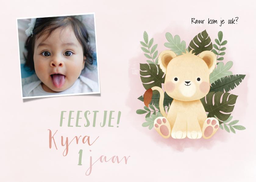 Kinderfeestjes - Kinderfeestje eerste verjaardag met leeuwin, jungle en foto
