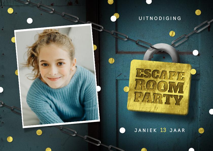 Kinderfeestjes - Kinderfeestje escape room slot foto deur confetti