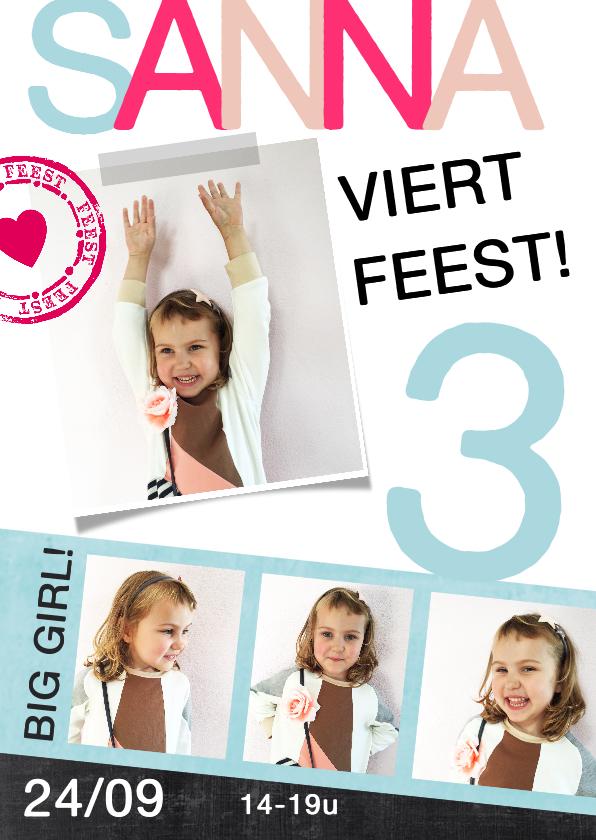 Kinderfeestjes - Kinderfeestje fotocollage meisje hart stempel