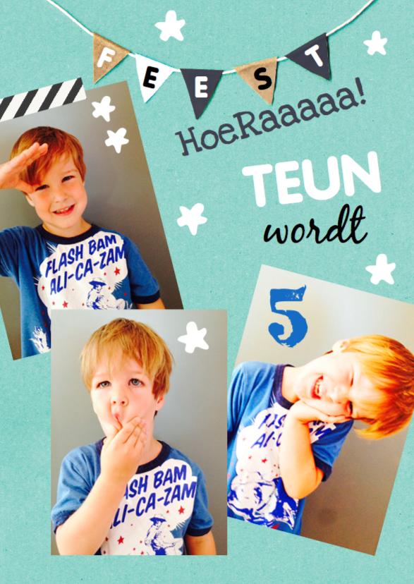 Kinderfeestjes - Kinderfeestje fotocollage Teun