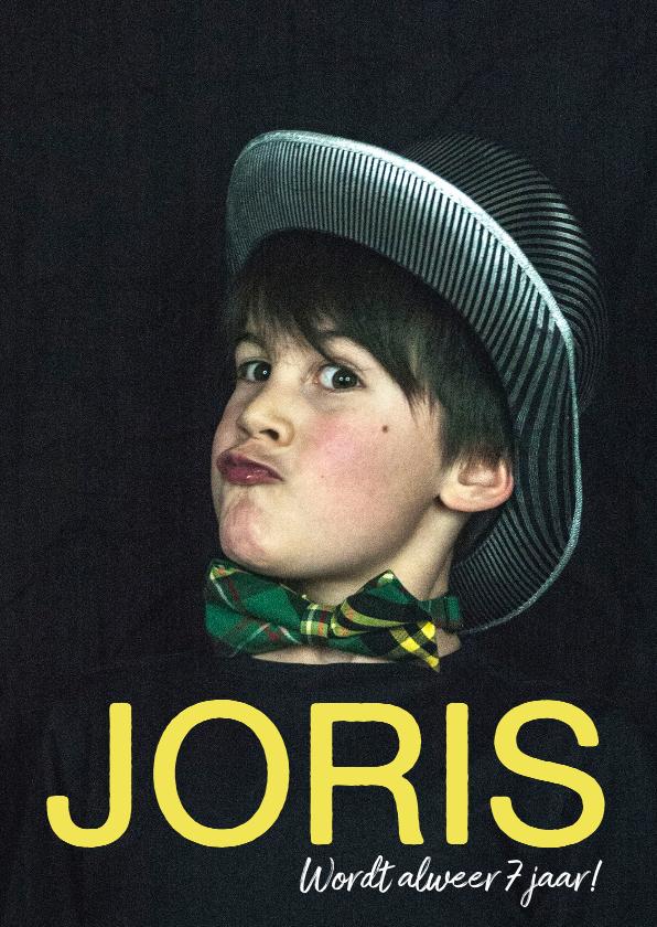Kinderfeestjes - Kinderfeestje fotokaart voor jongen of meisje