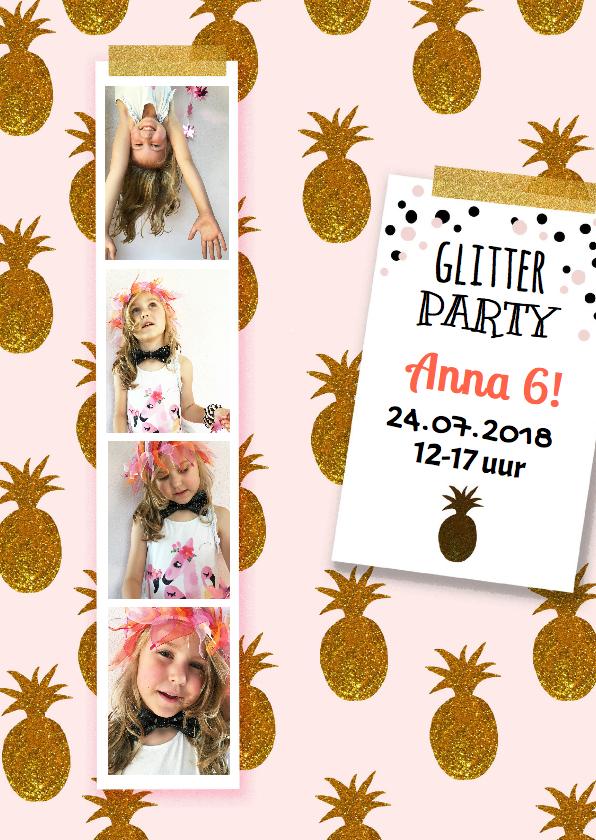 Kinderfeestjes - Kinderfeestje glitter pasfoto