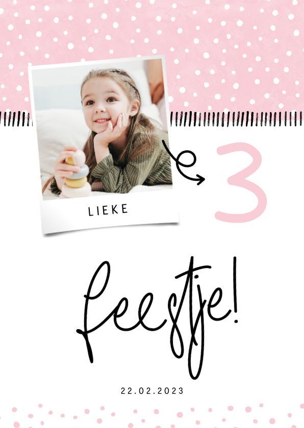 Kinderfeestjes - Kinderfeestje hip met foto en confetti aanpasbaar