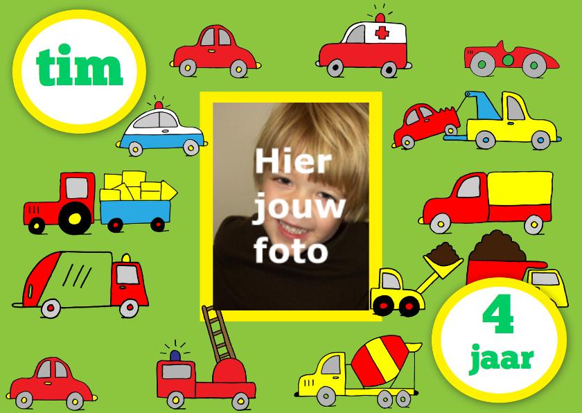 Kinderfeestje jongen auto foto leeftijd 1