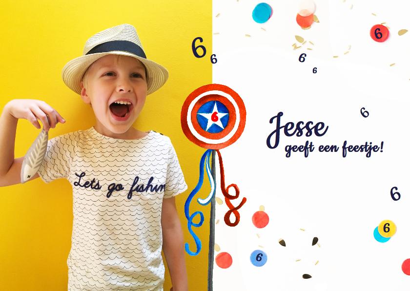 Kinderfeestjes - Kinderfeestje jongen confetti