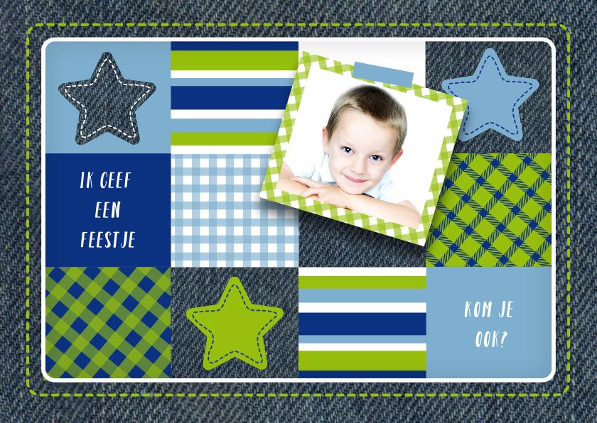 Kinderfeestjes - Kinderfeestje jongen foto sterren vakjes