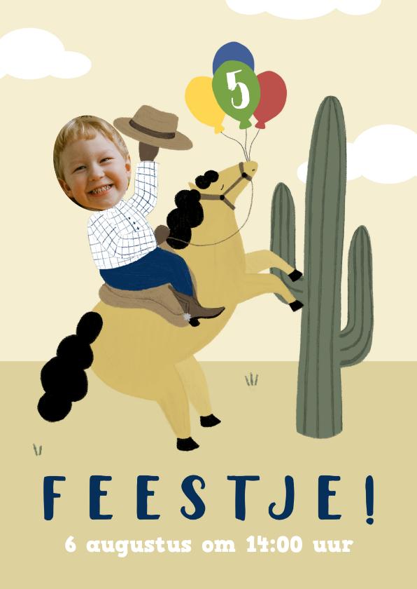 Kinderfeestjes - Kinderfeestje jongen met paarden ballonnen leeftijd en foto