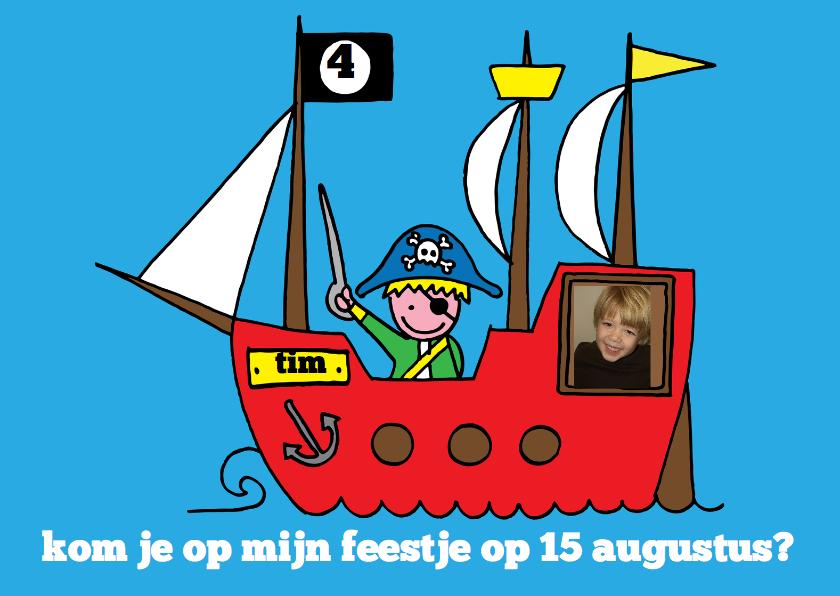 Kinderfeestje jongen piraat foto stoer 1
