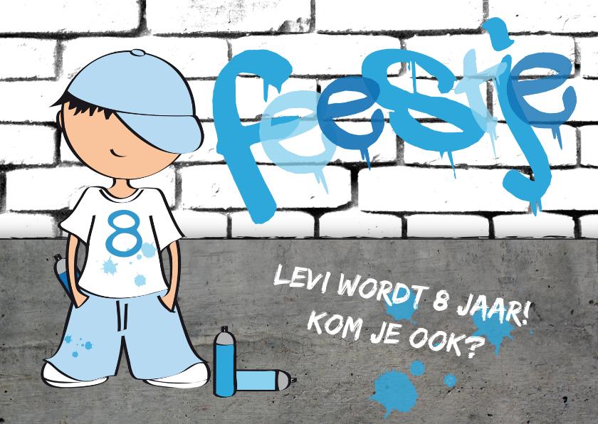 Kinderfeestjes - Kinderfeestje jongen stoer graffiti