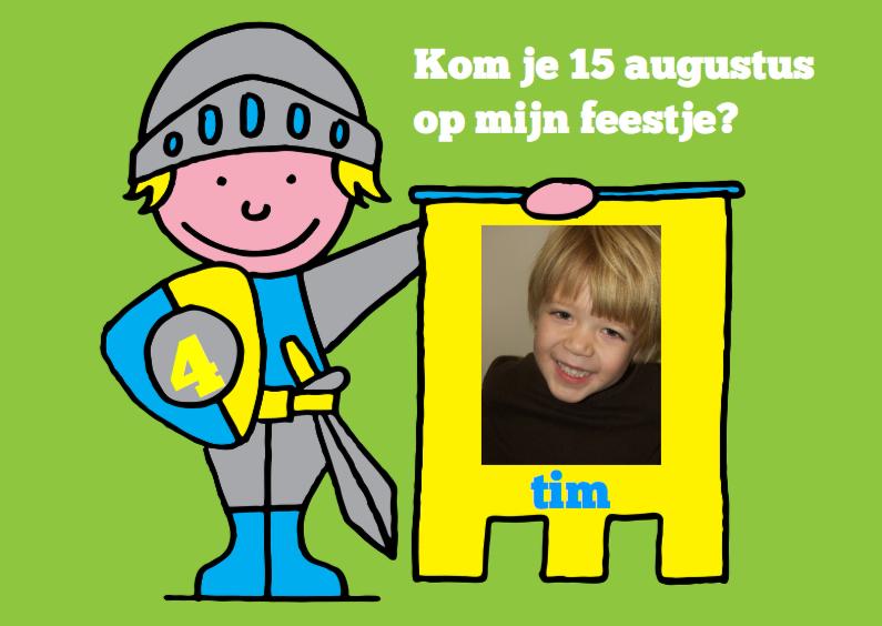 Kinderfeestjes - Kinderfeestje jongen stoer ridder foto