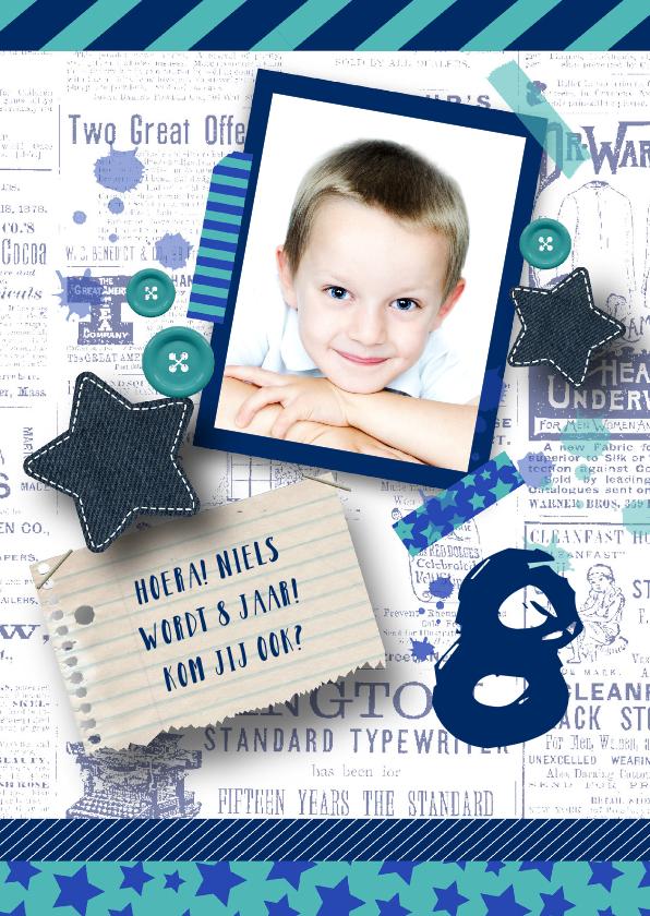 Kinderfeestjes - Kinderfeestje jongen stoer sterren tape foto