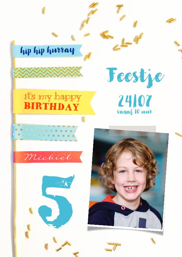 Kinderfeestjes - Kinderfeestje jongen vlaggen